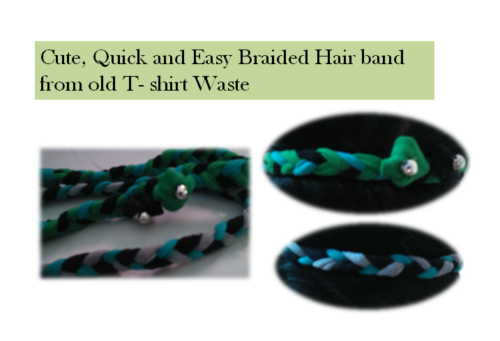 Cute Quick and Easy Braided Hair band. Recycle Old T-Shirt!!!!