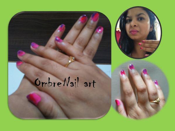 Super easy Ombre Nail art or Sponge Nail art