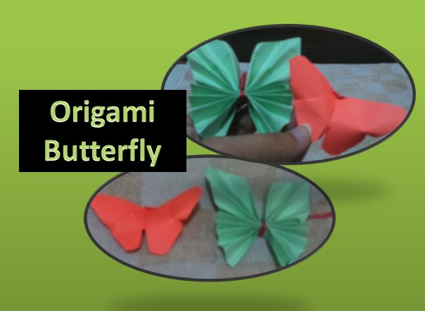 2 Quick and easy Super cute origami butterfly for kids