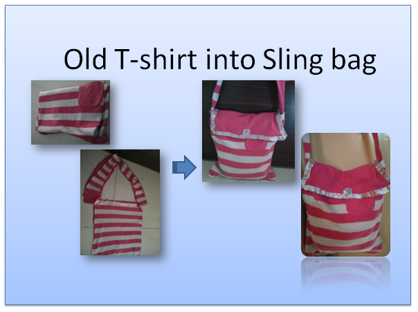 D.I.Y. Sling bag from old T-shirt (part 2) with opening/cover